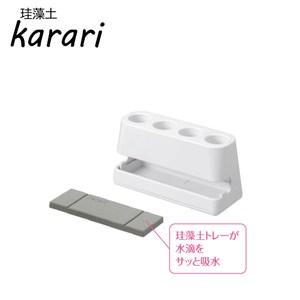 日本Karari珪藻土牙刷座-⾧形