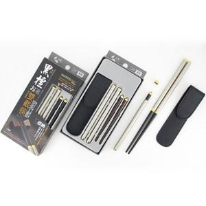 【佶之屋】頂級黑檀木雙節筷組-附便攜式皮套-精裝版一入組