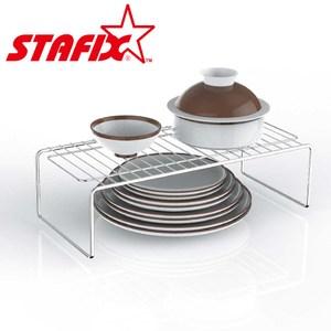 【韓國原裝進口STAFIX】全不銹鋼萬用碗盤層架40.5X19X13.5CM