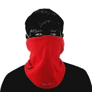 【PUSH!戶外用品】加厚保暖防風圍脖圍巾黑色H16