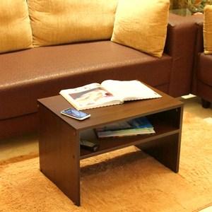 《C&B》樂庭日式兩用茶几桌/邊桌-深木紋