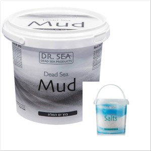 DR.SEA以色列死海礦物泥(1500g)*1+原始海鹽沐浴鹽*1