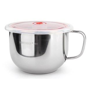 【PUSH!餐具用品】防燙防摔升級加厚304不鏽鋼泡麵碗E87