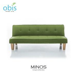 obis MINOS 北歐風質樸布沙發床-綠色