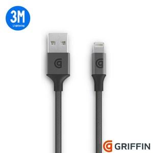 Griffin Lightning 雙向USB編織充電傳輸線 3M太空灰
