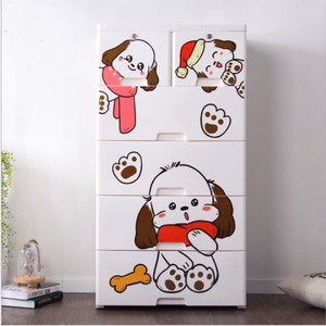 【收納+】聖誕狗五層玩具衣物收納櫃四大二小抽-DIY五層