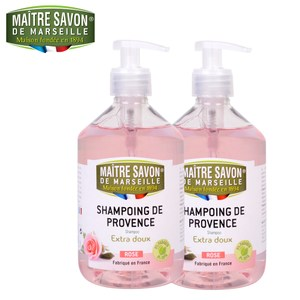 法國玫翠思馬賽洗髮精(玫瑰)500ml*2入