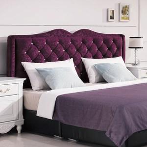 【YFS】德薇爾5尺紫色絨布床頭片-153*12*119cm