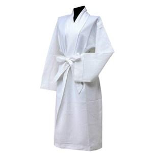 【花季】純品良織-高質感簡約時尚華菱格浴袍*1件組