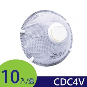 GRANDE防霾歐規FFP1-CDC4V│碗型活性碳防塵氣閥│10入盒