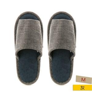 HOLA 舒適素色保暖拖鞋 灰M