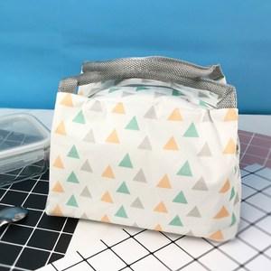 【佶之屋】清新簡約便當袋/保溫袋(白色三角形)