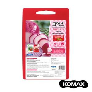 韓國KOMAX 抗菌銀離子紅白兩用砧板(大)大