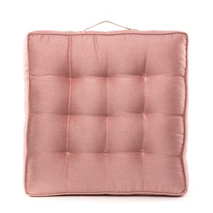 HOLA 素色織紋胖胖墊50x50cm 梅粉色