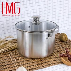 【LMG】304不鏽鋼吉品深型湯鍋18CM-提把