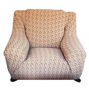 色織彈性三人沙發套210x100cm 咖啡色