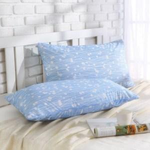 MONTAGUT-冰絲涼感枕頭套(蘆葦花-藍色)