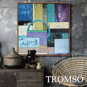 TROMSO北歐風尚板畫有框畫-翡翠時尚60X60CM