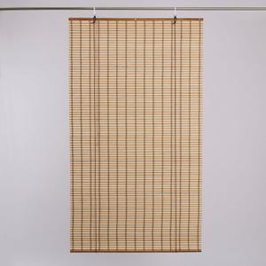 雙色竹捲簾150x160cm-米咖