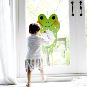 韓國品牌 NINO 兒童彩繪壁貼鏡 微笑大眼蛙