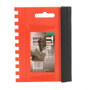 磁磚填縫齒型軟 刮刀 - 126 x 94mm