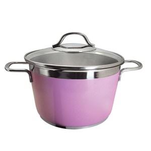 Nu Cook 美味湯鍋22cm(粉)