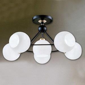 YPHOME 現代風客廳半吸頂5+1燈 A12293L