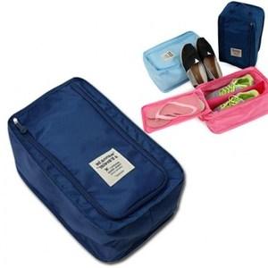 wanna be a traveler 便攜式旅行鞋袋 深藍