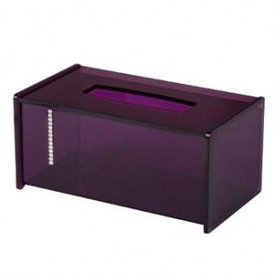 水鑽抽取式紙巾盒紫