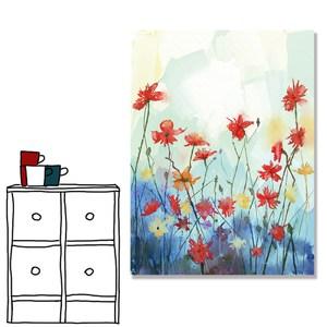 【24mama 掛畫】單聯式油畫布無框畫 30x40cm-雛菊花園03油畫布無時鐘
