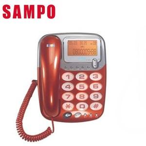 SAMPO 聲寶 來電顯示大字鍵有線電話 HT-W507L (紅色)