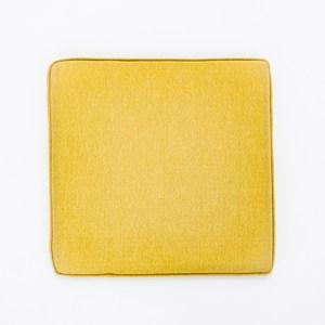 素色記憶棉坐墊40x40x4cm 芥黃色