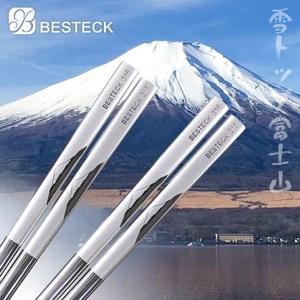 【BESTECK】316 不鏽鋼日式雷雕筷-富士山(五雙入)