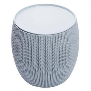 KETER cozy針織感橢圓收納桌 淺藍色款