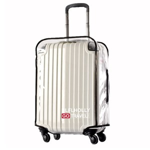 【PUSH!】旅遊用品ABS.PVC全透明行李箱保護套24吋S39-3