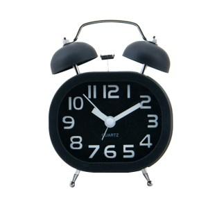 糖果色 復古立體數字方型雙鈴鬧鐘(小) SV-1308-K