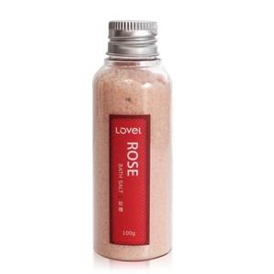 Lovel天然井鹽/香氛沐浴鹽100g(玫瑰)