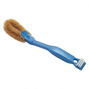 棕毛雙頭鞋刷(藍)