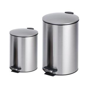 (組)里昂不銹鋼緩降垃圾桶5L+12L