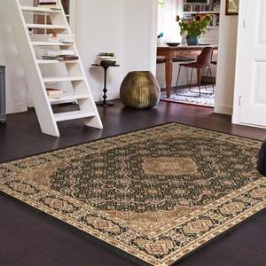 【YFS】古典羊毛地毯-新月黑200x290cm