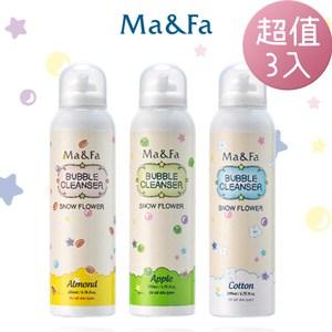 Ma&Fa 韓國熱銷魔法沐浴泡超值3瓶組(青甜蘋果+棉花寶寶+陽光杏果