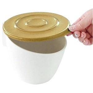 日本Hachiman掀蓋式吸盤收納筒-咖啡