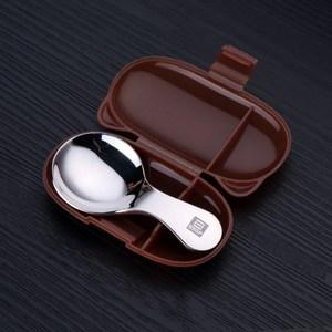 【PUSH!餐具】304不鏽鋼短柄小湯匙(咖啡盒一入)E121咖啡盒一入