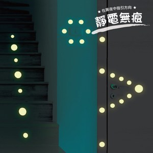 Kiss貼貼 靜電無痕隨變貼 夜光系列(指引方向)