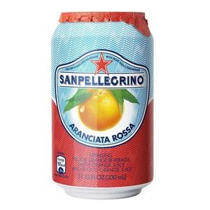 義大利 S.Pellegrino 聖沛黎洛氣泡水果水 紅橙口味 330ml