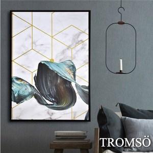 TROMSO時尚風華抽象有框畫大幅-奢華浪潮W956