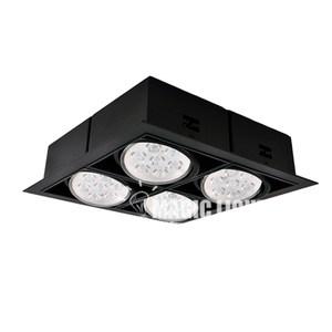 【光的魔法師Magic Light】AR70黑色有邊盒燈四燈-方形崁燈黃光3000K