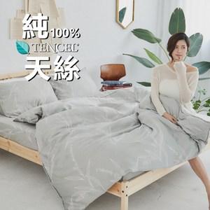 【BUHO】100%TENCEL天絲床包枕套組-雙人加大(細光空濛)