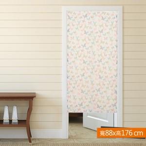 蝶語雙層風水簾 寬88x高176cm 粉色