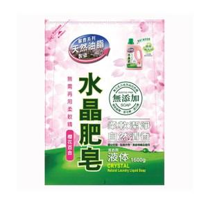 水晶肥皂液體補充包1600g 櫻花百合